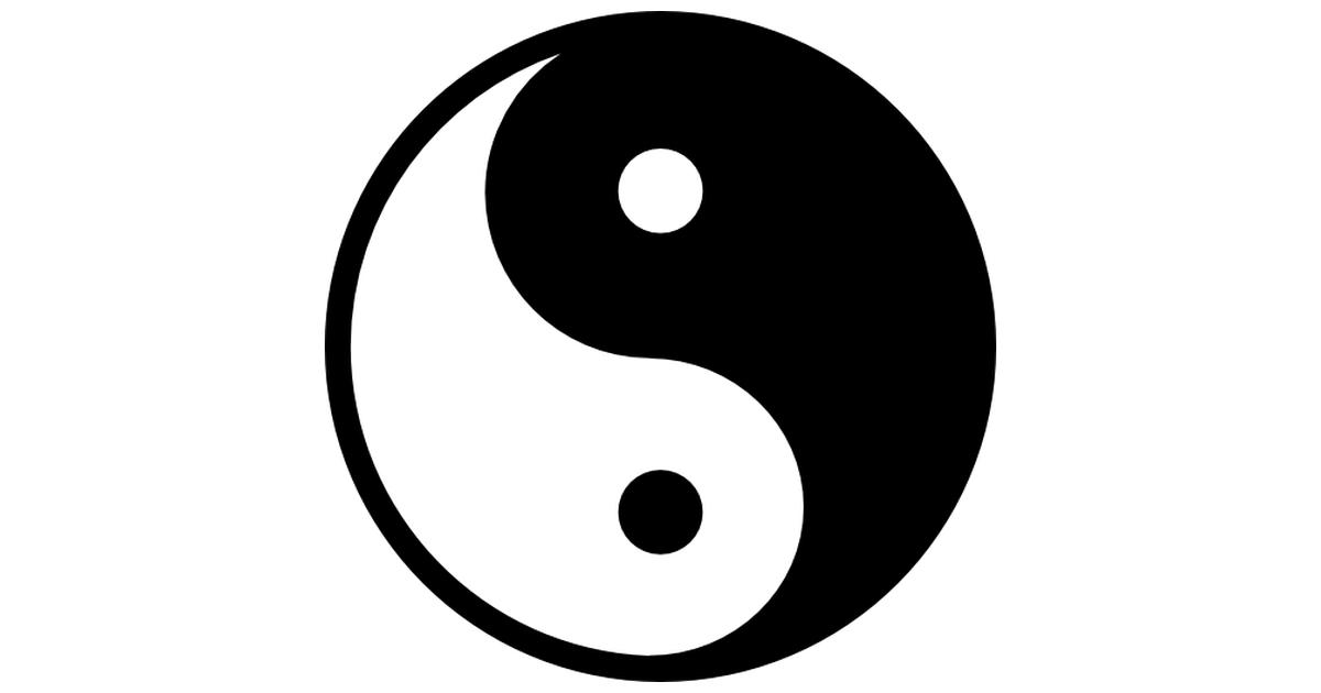 Yin yang symbol variant.