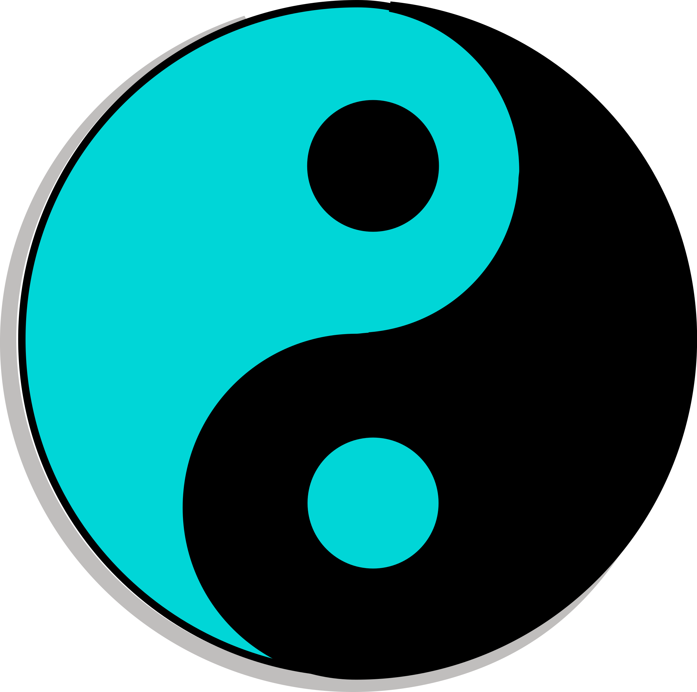 Yin yang symbol free clip art.