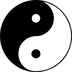 Yin and yang clipart.