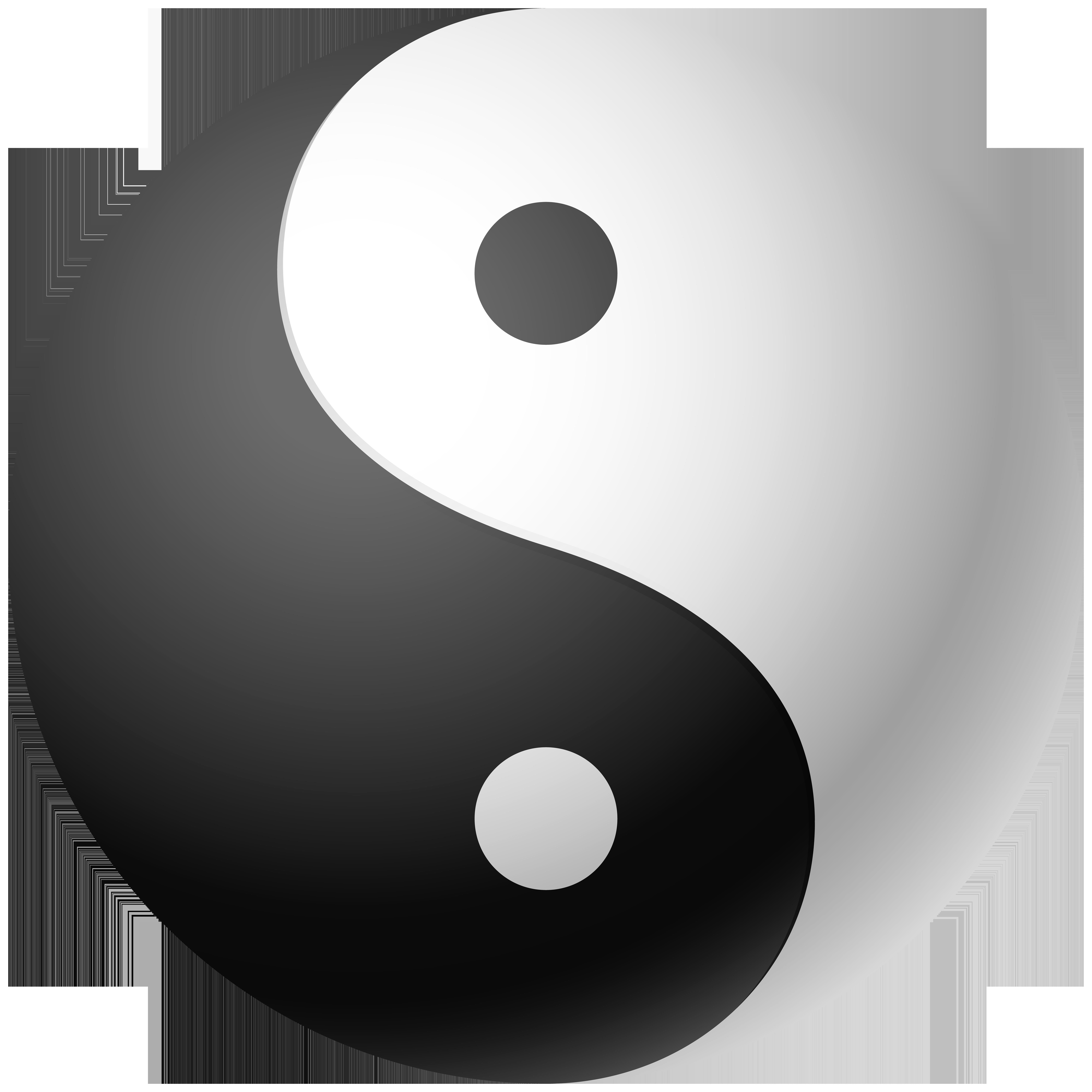 Yin and Yang Clip Art PNG Image.