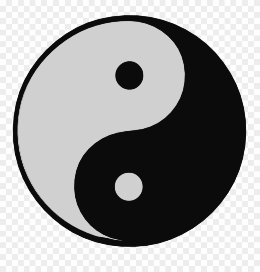 Sign Themed Video Clipart Of Ying Yang Symbol.