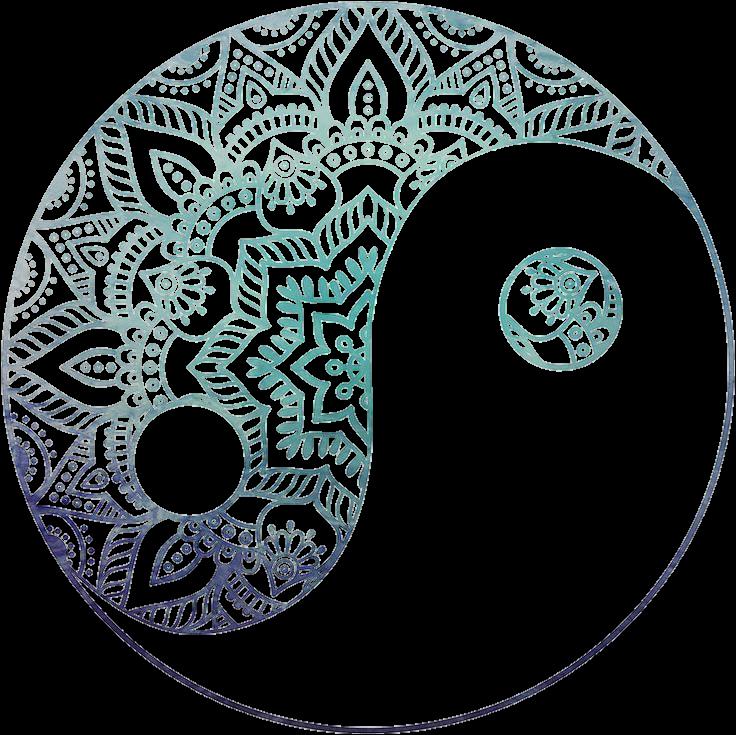 yinyang yin yang zentangle symbols overlay hipster.