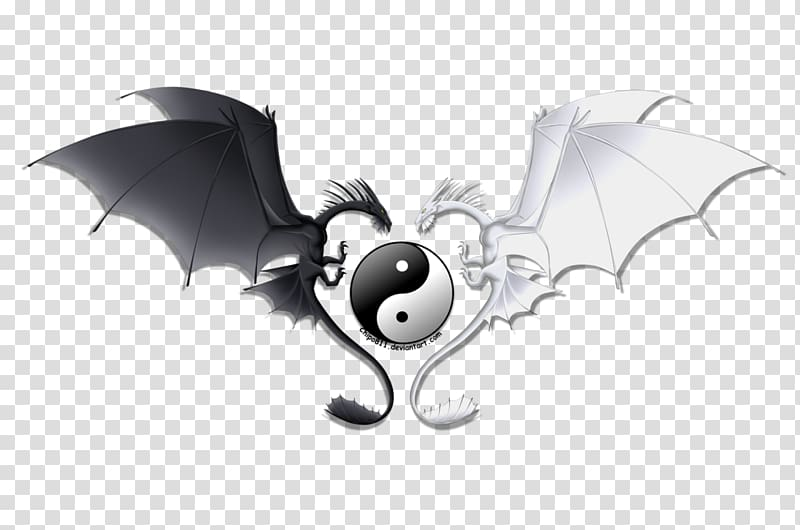 Yin and yang Chinese dragon Emoji, yin yang transparent.