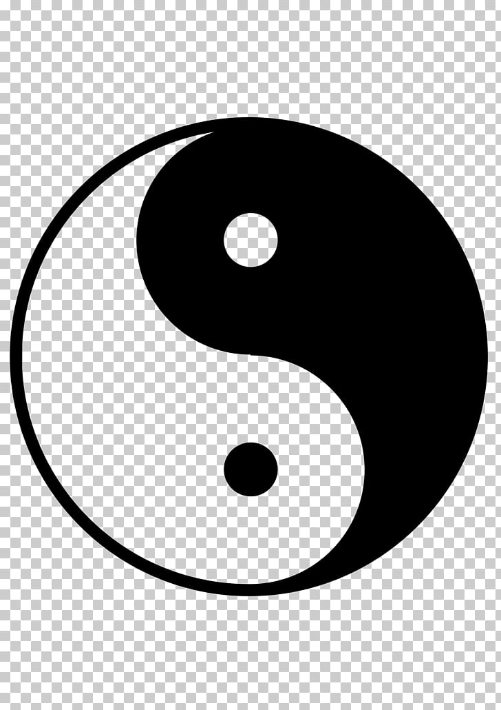 Yin and yang , yin yang PNG clipart.