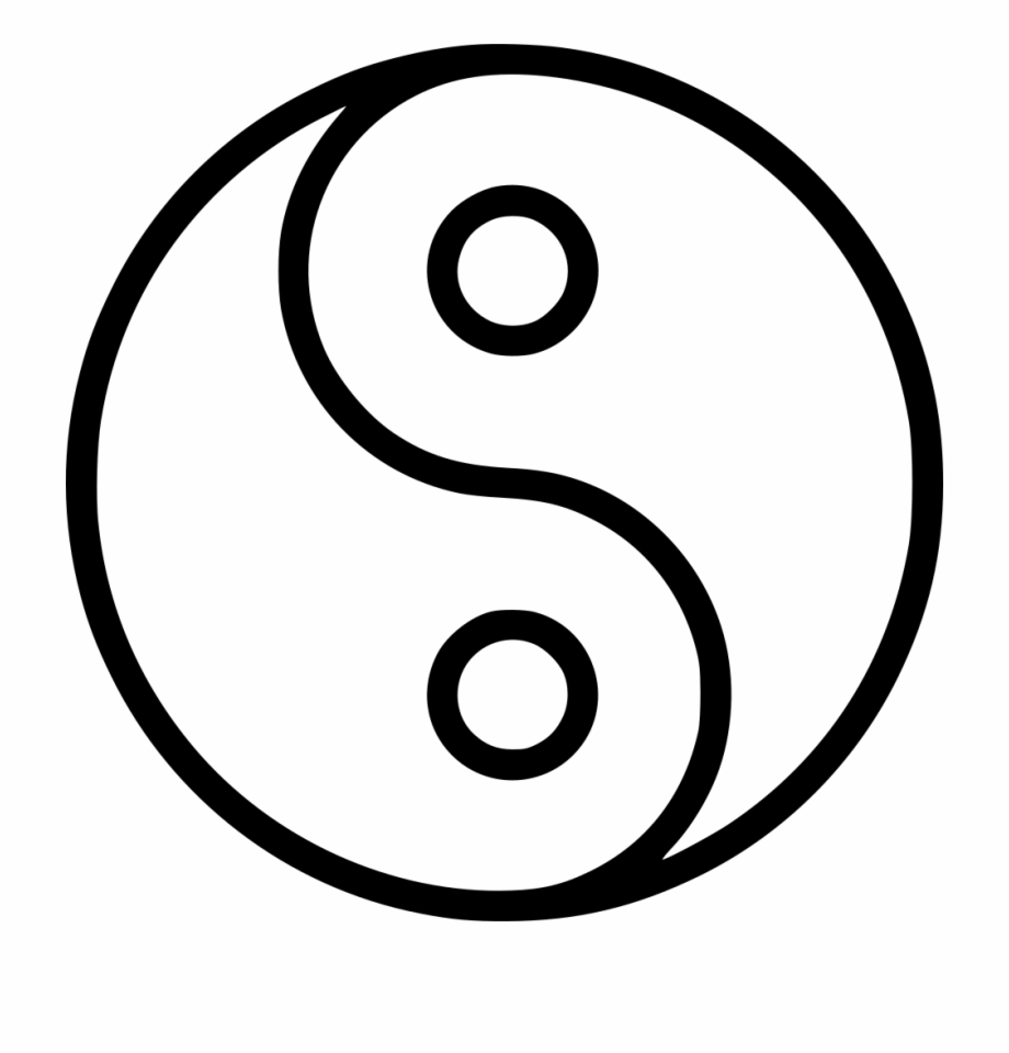 Yin And Yang Outline.