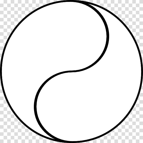 Yin and yang Line art , yin yang transparent background PNG.
