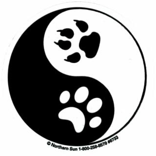 Yin Yang Paw Prints.
