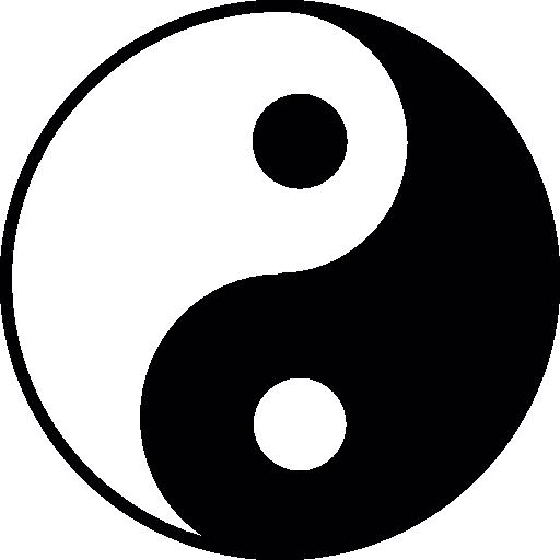 Yin yang, ios 7, symbol Icons.