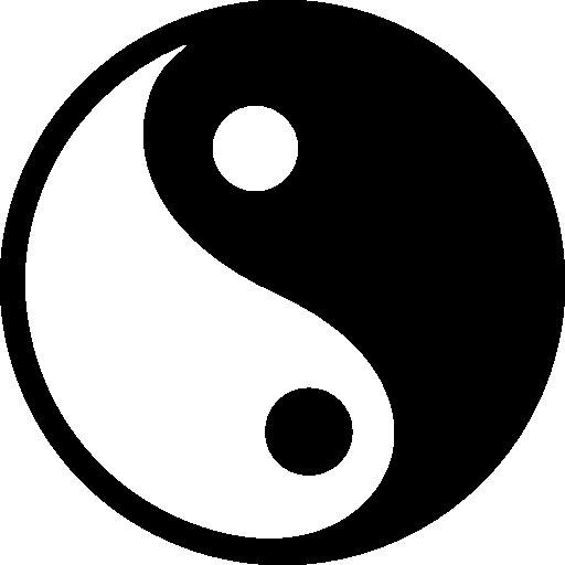 Yin yang symbol Icons.