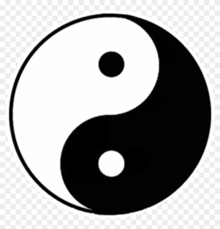 yinyang #tumblr #stickers #blackandwhite #namaste.