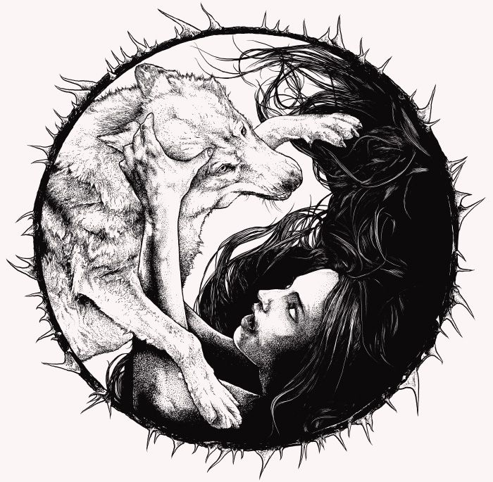 Wolf Yin Yang by alex.