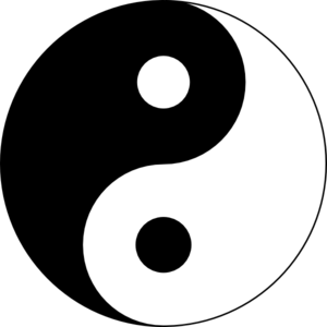Black/white Ying Yang Clip Art at Clker.com.