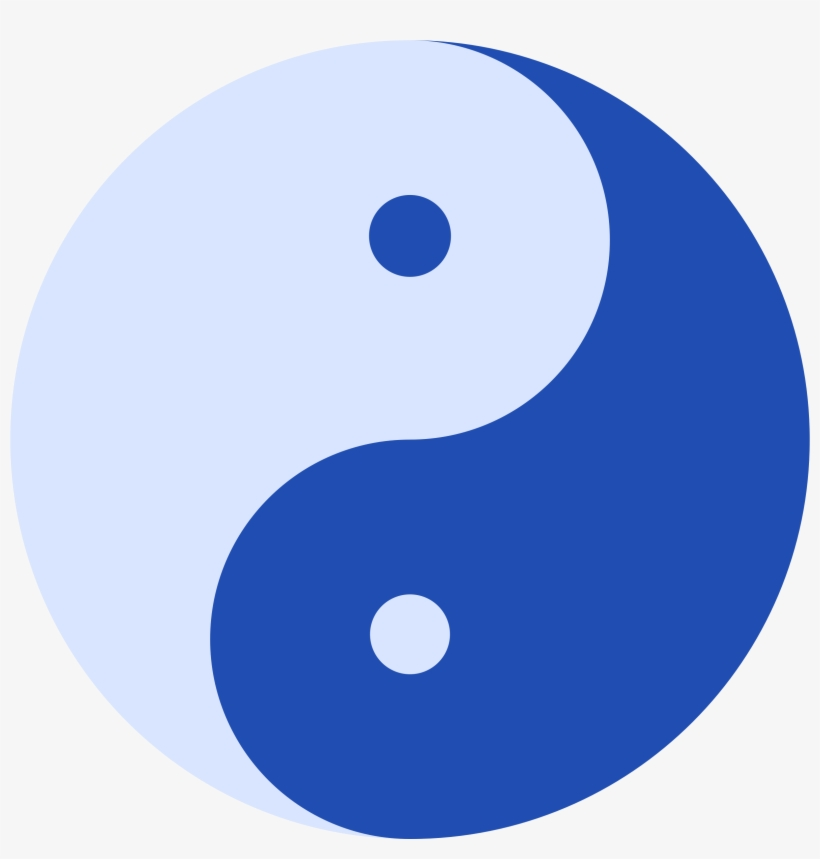 Blue Ying And Yang Icons Png.