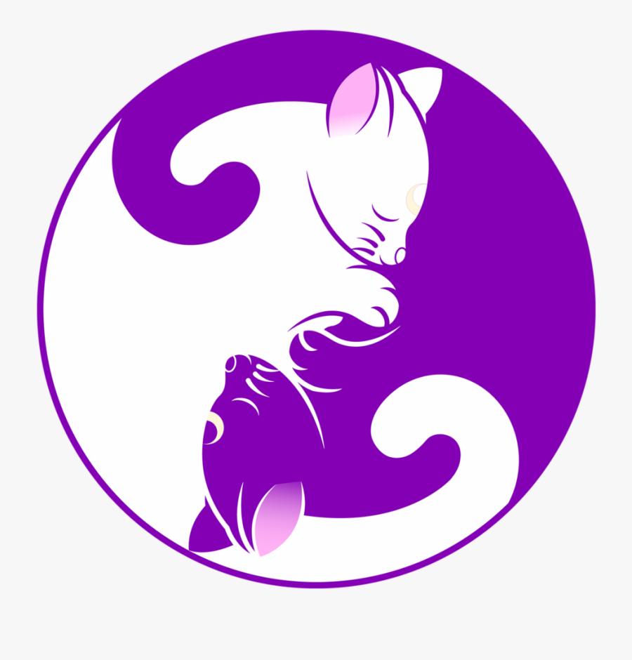 Drawn Kittens Yin Yang.