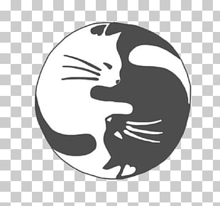51 yin Yang Cat PNG cliparts for free download.