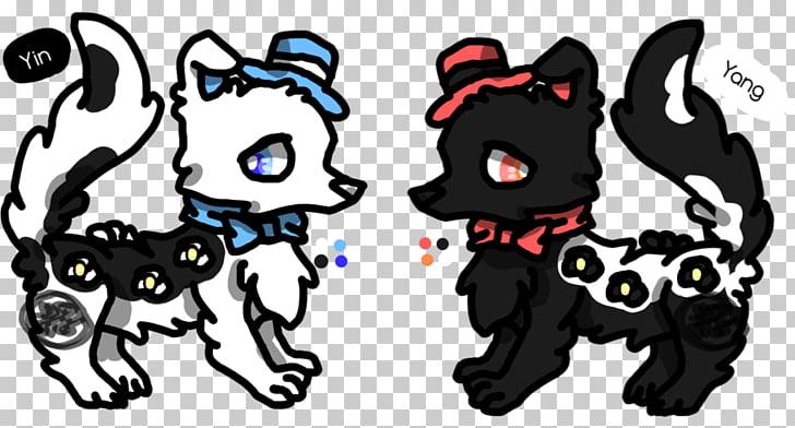 Cat Dog Paw Horse Mammal, yin yang dog PNG clipart.