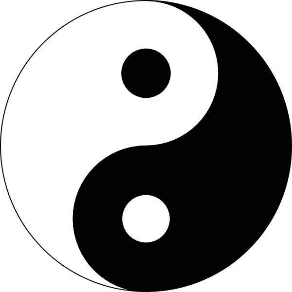 Yin Yang 3 Clip Art at Clker.com.