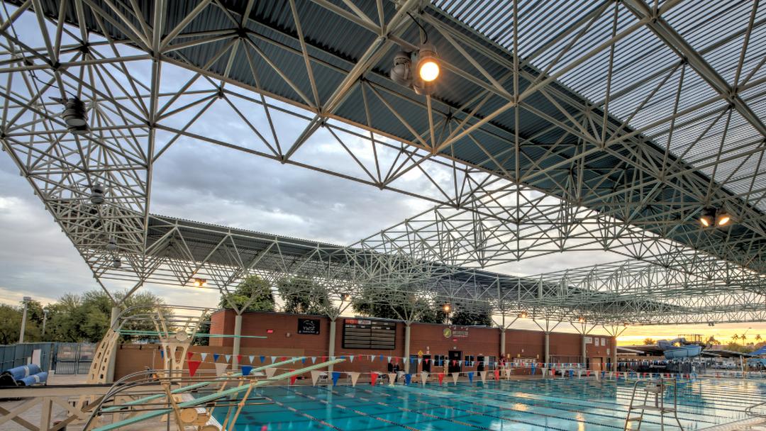 YMCA Westside Silver Fins Swim and Dive Team.
