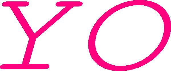 Pink Yo Text Clip Art at Clker.com.