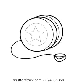 Yoyo clipart black and white 5 » Clipart Station.