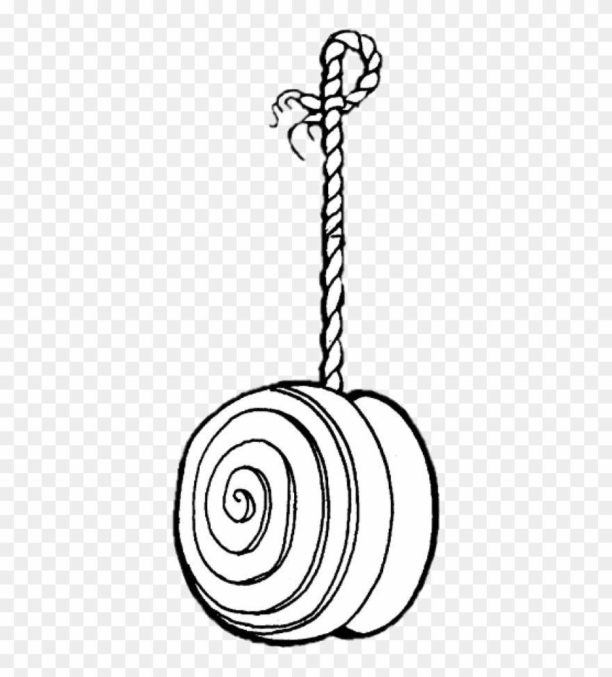 Yo Yo Toy Black And White Drawing Clipart (#2927954).