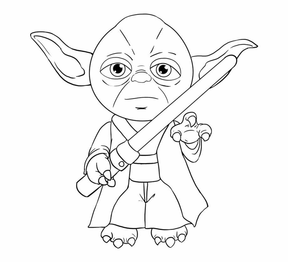 Free Yoda Black And White Clipart, Download Free Clip Art.