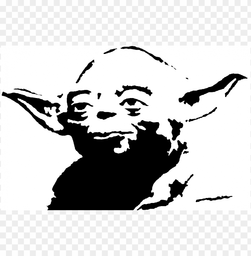 Download master yoda yoda black clipart png photo.
