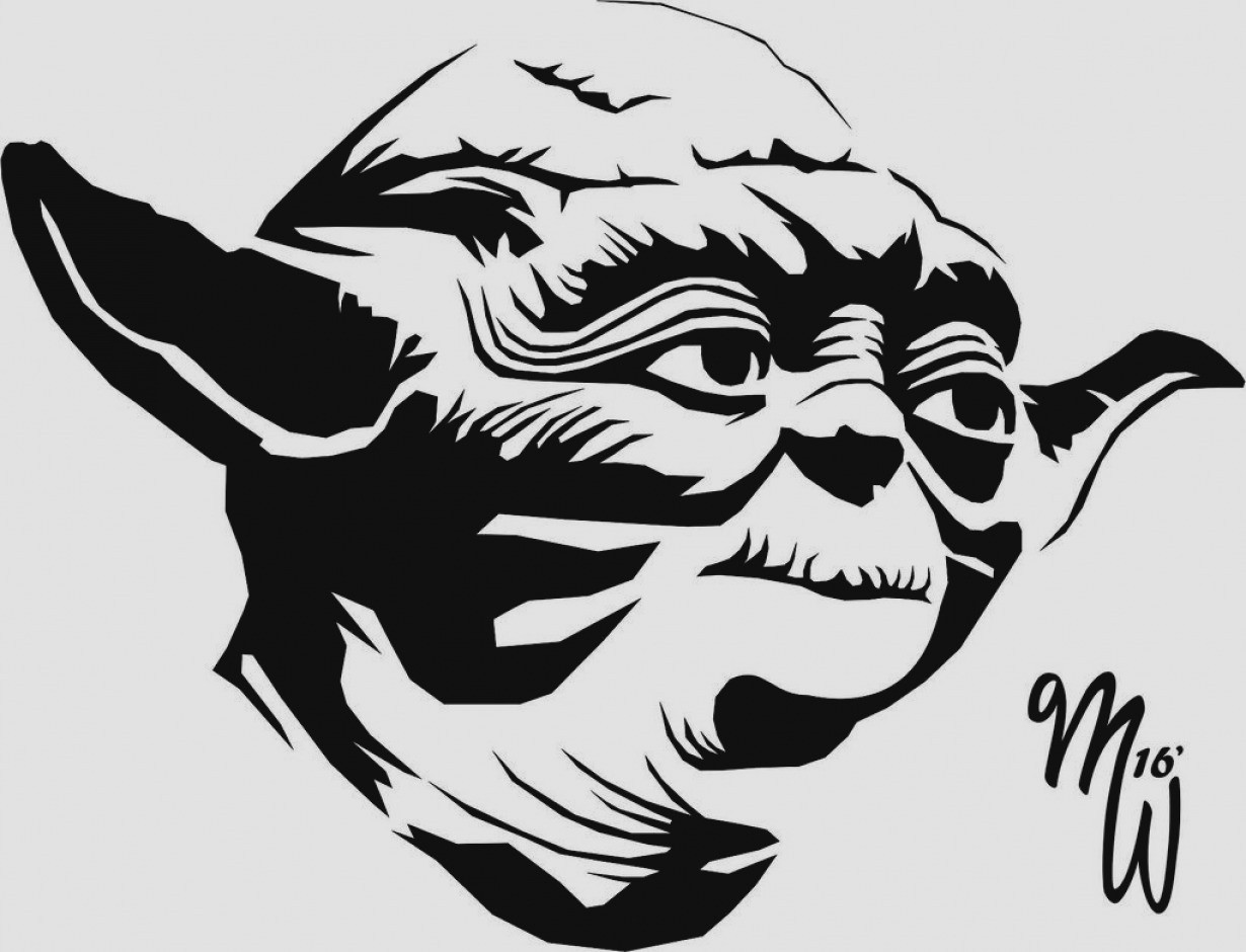 Yoda clipart black and white 2 » Clipart Station.