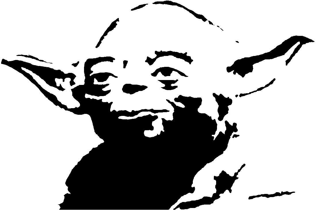 Collection of 14 free Yoda clipart black and white bill clipart.