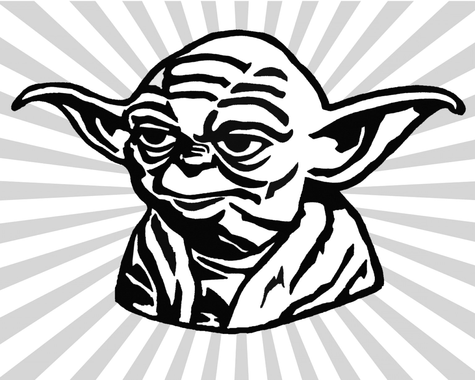 Yoda clipart black and white 7 » Clipart Station.
