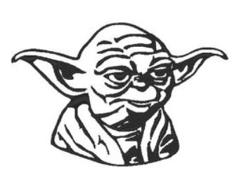 Yoda clipart black and white 6 » Clipart Station.
