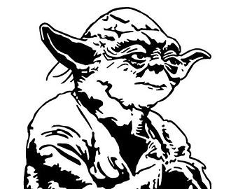 Star Wars Black And White Clipart Yoda Kid.