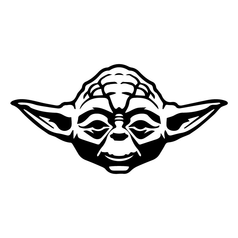Yoda Face Silhouette.
