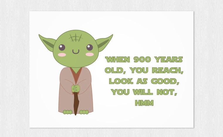 Yoda Birthday Clipart.
