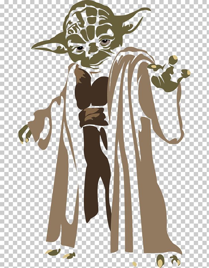 Yoda , Yoda silhouette PNG clipart.