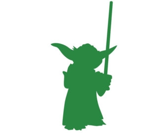 Yoda Clipart Black And White.