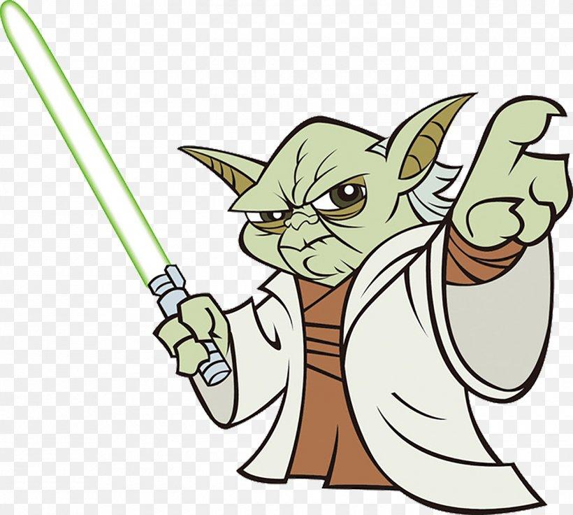 Yoda Logo Star Wars, PNG, 1500x1348px, Watercolor, Cartoon.