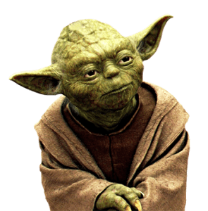 Yoda Side View transparent PNG.