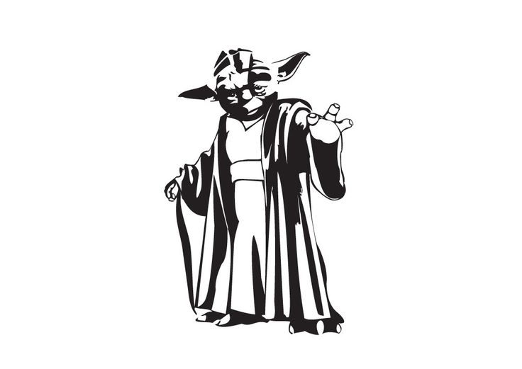 Star Wars Yoda Silhouette at GetDrawings.com.