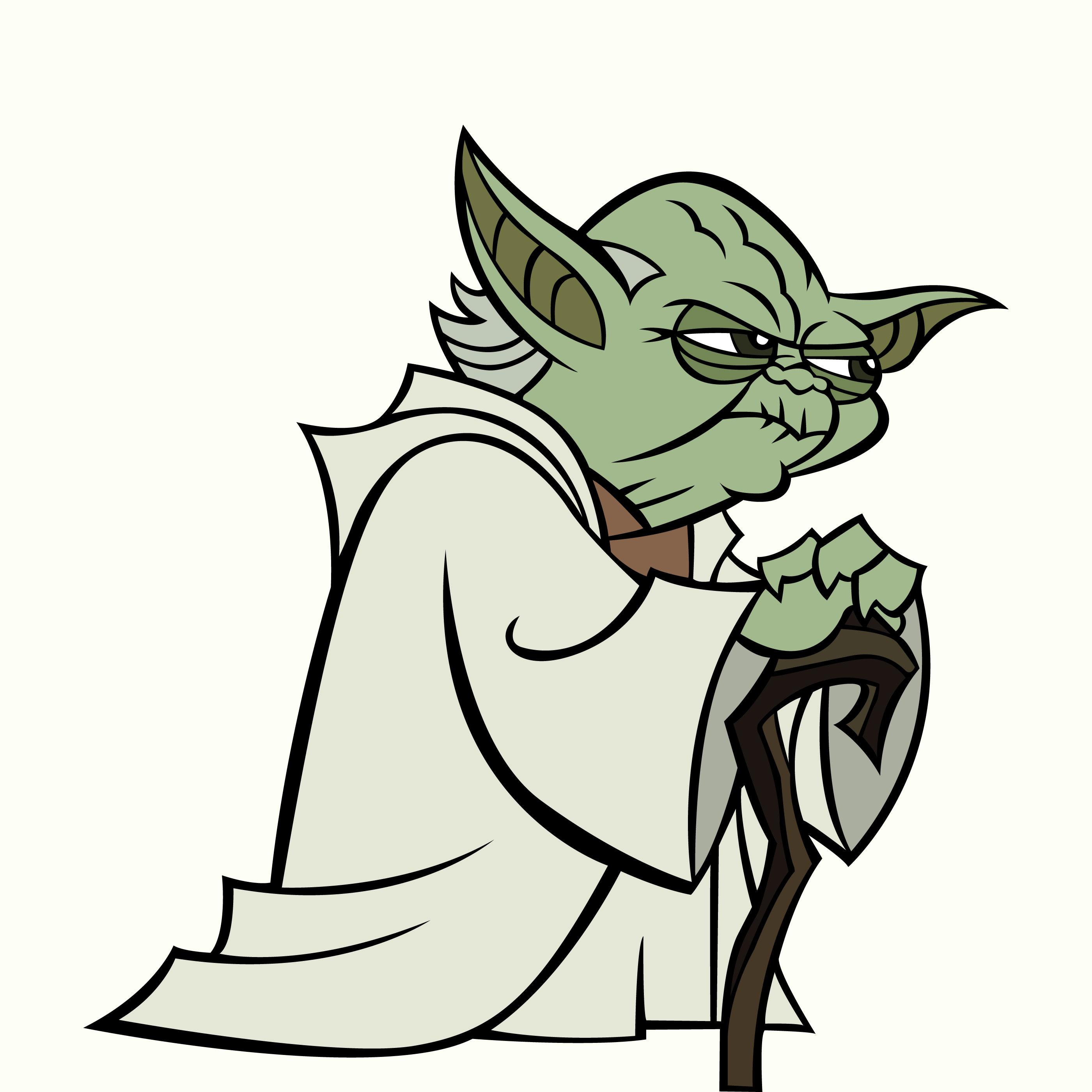 Yoda Star Wars Free Vector Art.