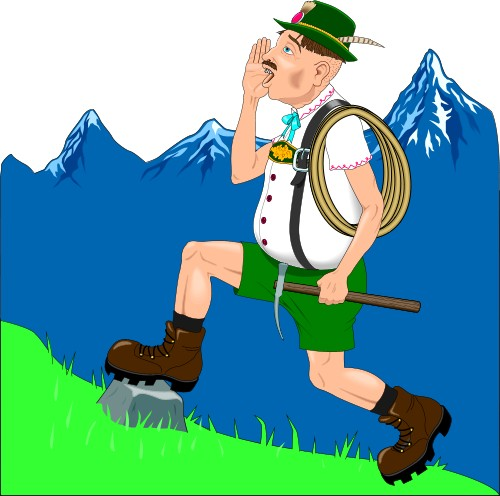 Yodeling Clipart.