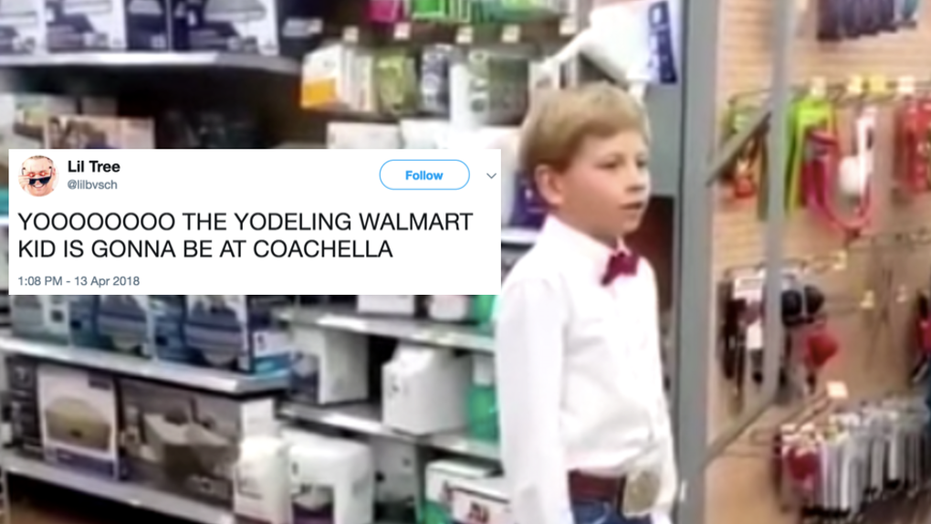 Tweets About The Viral Walmart Yodeling Kid Performing At Coachella.