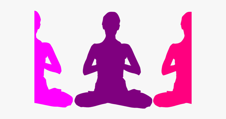 Yoga Clipart Icon.