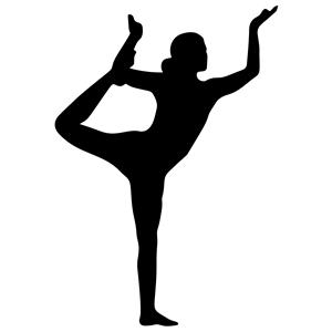 Female Yoga Pose Silhouette 18 clipart, cliparts of Female.