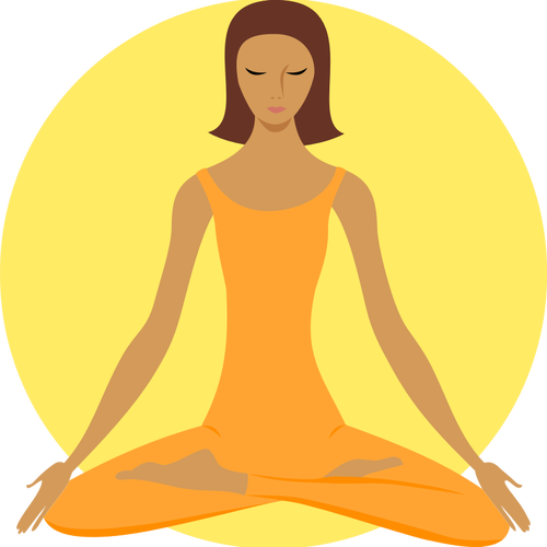 Vector clip art of yoga practitioner.