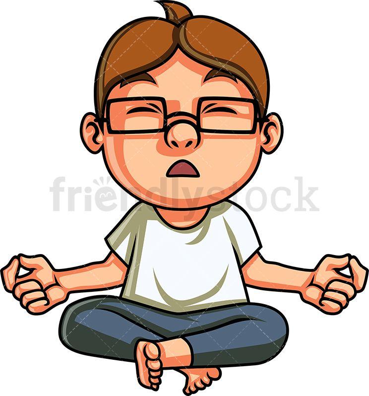 Yoga Kid Meditating.