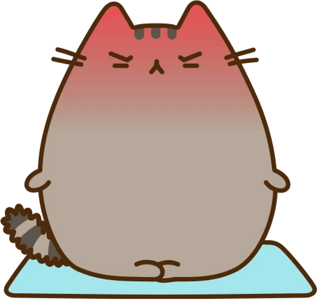 Karma Yoga Calm Pusheen Cat Kitty Cute Tumblr Nervous.