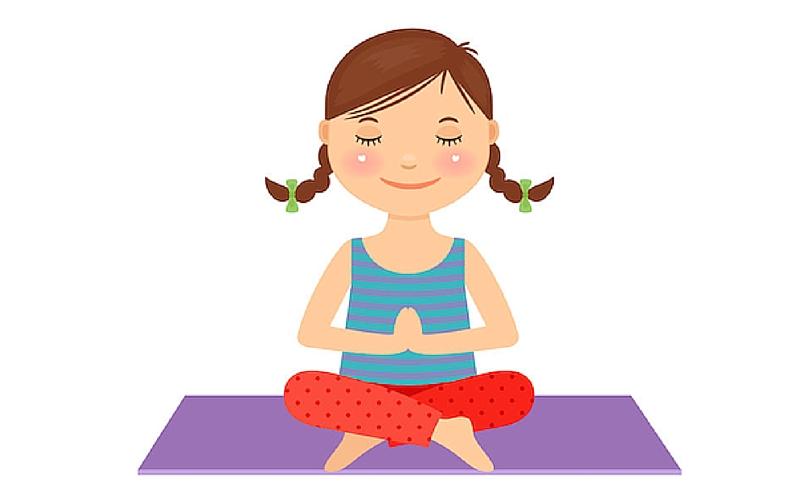 Child Yoga Clipart.