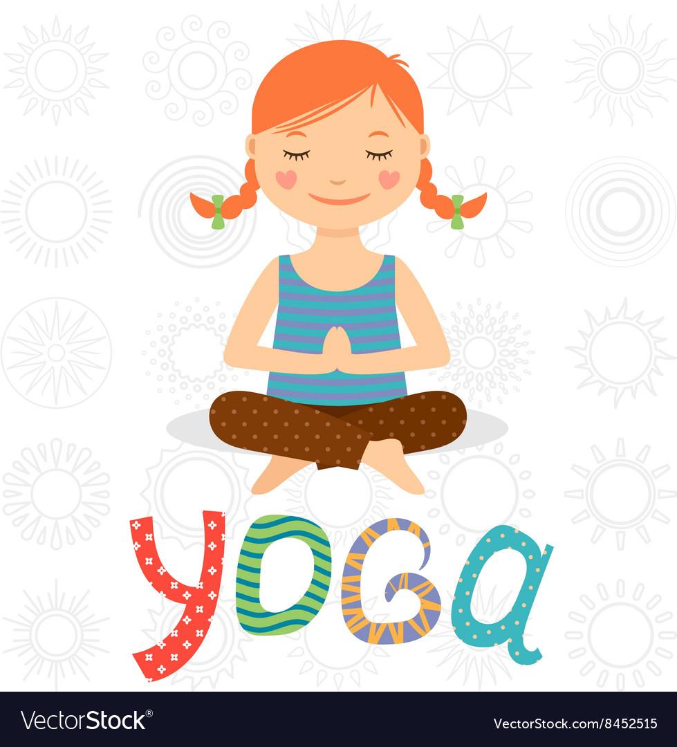 Little girl doing yoga.