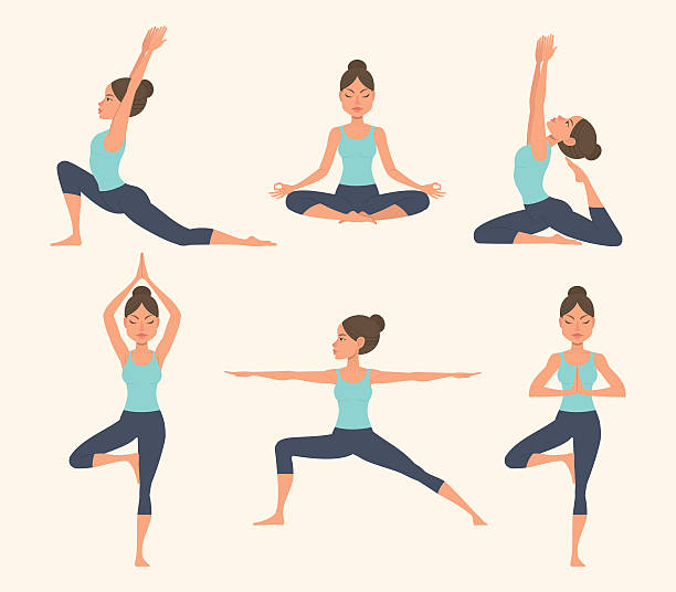 Best Yoga Class Illustrations, Royalty.